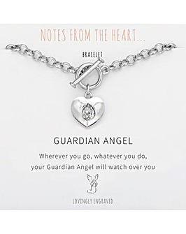 Guardian Angel Heart Bracelet