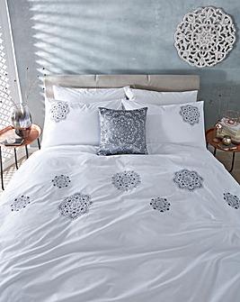 Aisha Embroidered Duvet Cover Set