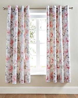 Fleur Lined Eyelet Curtains