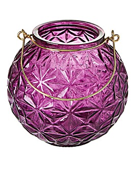 Heather Geometric Glass Lantern