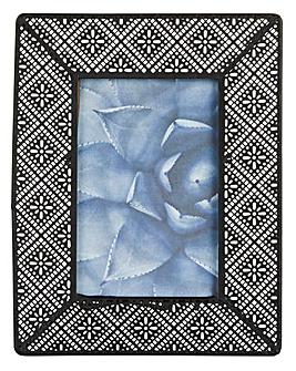 Metal Floral Mosaic Frame 10 x 15cm