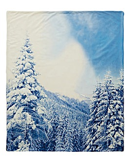 Winter Scene Fleece Throw