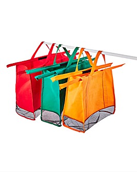 Set of 3 Reusable Shopping Trolley Bags