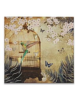 Hummingbird Glitter Canvas