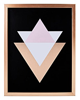 Rose Gold Geometric Framed Print