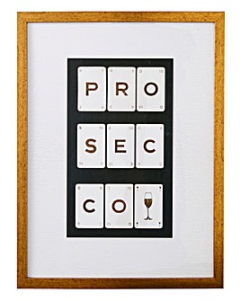Arthouse Prosecco Framed Print