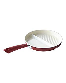 Ceramic 2-in-1 Multifunctional Pan Red