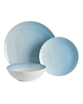 Ombre Blue 12pc Dinner Set