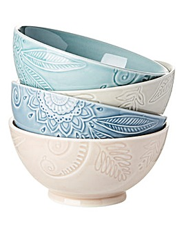 Monsoon Gather 4 Small Bowls