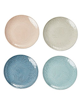 Monsoon Gather 4 Medium Plates