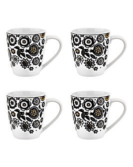 Portmeirion Modern Folk Barrel Mugs
