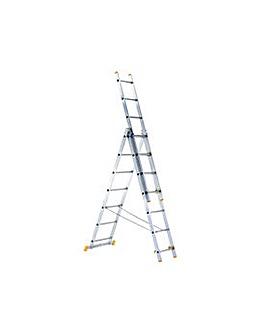 Zarges  3-Part Combination Ladder 3X7