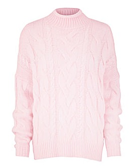 Cable High Neck Jumper