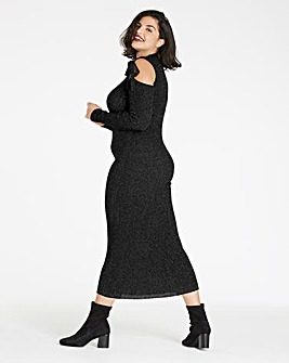 Metalic Rib Knitted Dress