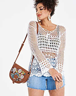 Lace Up Crochet Jumper