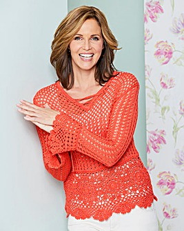 Lace Up Crochet Jumper