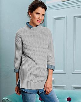 Stitch Detail Knitted Tunic