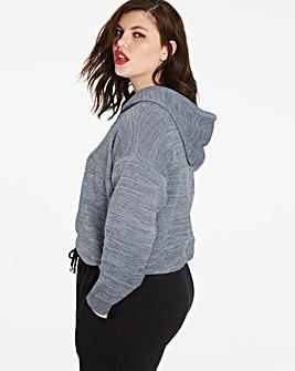 Metallic Detail Knitted hoodie