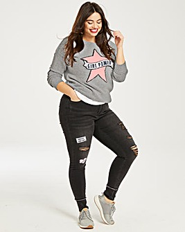 Plush Slogan Jumper