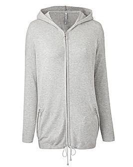 Hooded Sportive Cardigan