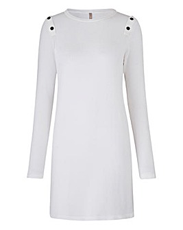 Petite Popper Shoulder Tunic