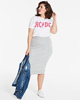 Rib Detail Knitted Tube Skirt