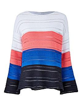 Stripe Open Knit Jumper
