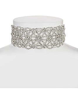 Mood floral choker necklace