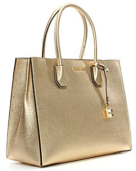 Michael Kors Large Leather Satchel Tote