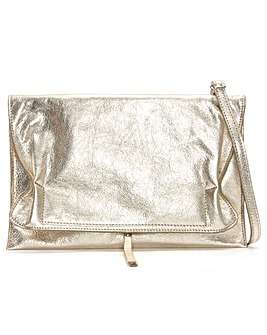 Daniel Match Large Ruched Clutch Bag