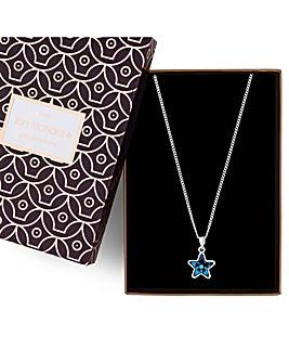 Jon Richard Swarovski star necklace