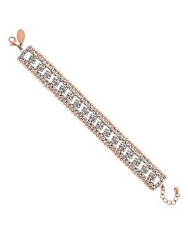 Jon Richard crystal and chain bracelet