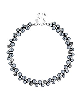 Jon Richard pearl and pave ball necklace