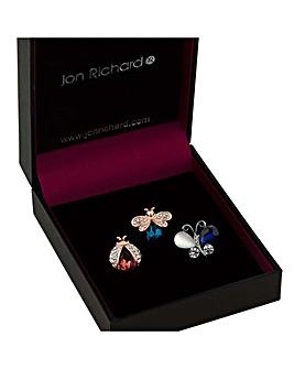 Jon Richard bug brooch set