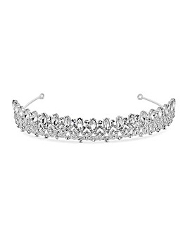 Jon Richard art deco crown tiara