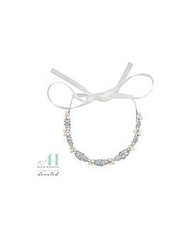 Alan Hannah pearl crystal hair ribbon