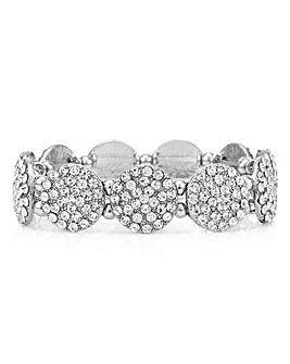 Mood Silver Pave Disc Bracelet