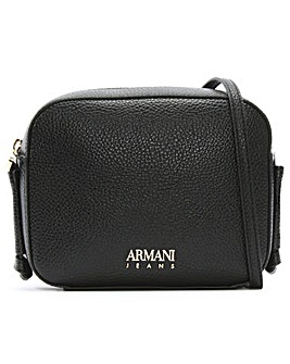 Armani Jeans Pebbled Cross-Body Bag