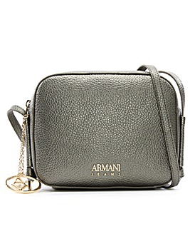 Armani Jeans Pebbled Cross-Body Bag