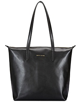Smith & Canova Twin Strap Zip Top Tote