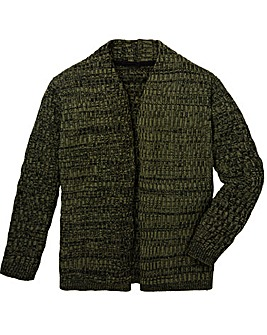 Label J Rib Cardigan Regular