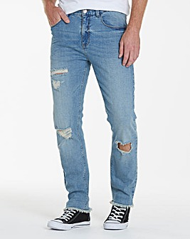 Label J Rip Repair Skinny Jeans Long