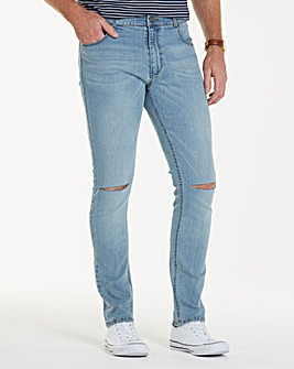 Label J Rip Knee Skinny Jean Short