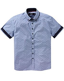 Black Label Check Print Shirt Regular