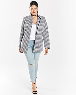 Tweed Belted Wrap Jacket