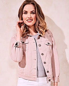 Blush Denim Jacket