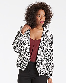 Jersey Jacquard Waterfall Jacket