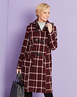 Check 3/4 Dufle Coat