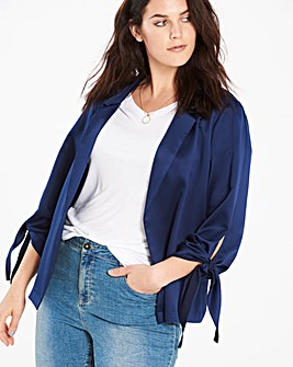 Tie Sleeve Soft Jacket