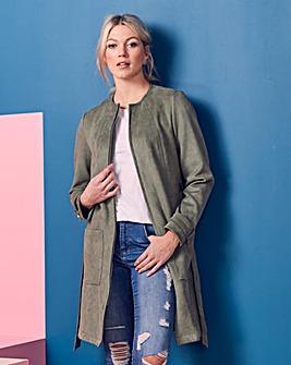 Longline Suedette Jacket